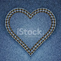 Denim,Jeans,Heart Shape,Pat...