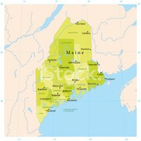 Map,Maine,Cartography,New E...
