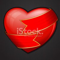 Ornate,Ribbon,Heart Shape,V...