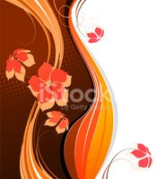 Brown,Swirl,Orange Color,Bl...