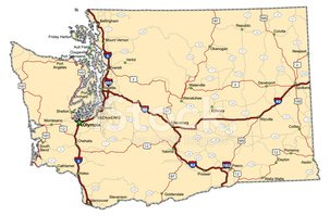 Washington State,Map,state...