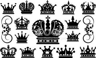 Crown,Queen,Silhouette,Symb...