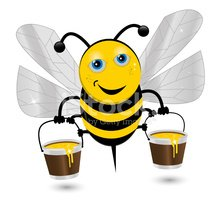 Bee,Busy,Honey,Ilustration,...