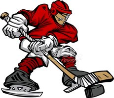 RoyaltyFree RF Clipart of Hockey Players Illustrations