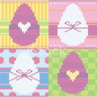 Easter,Textile,Knitting,Ani...