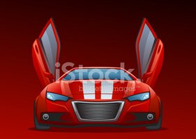 Sports Car,Car,Front View,O...