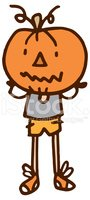 Pumpkin head kid