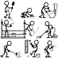 Stick Figure,Cleaning,Occup...