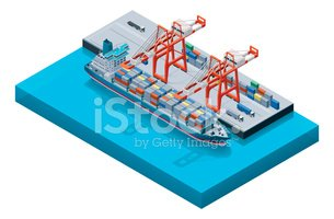 Isometric,Commercial Dock,H...