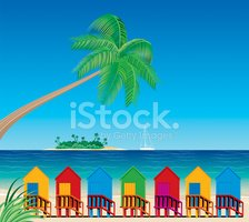 Beach Hut,Island,Tropical C...