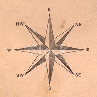 Compass Rose,Old-fashioned,...