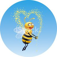 Bee,Honey,Love,Cartoon,Inse...