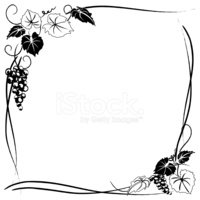 Grape,Vine,Frame,Vector,Ske...