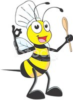 Bee,Honey Bee,Chef,Insect,S...