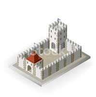 Isometric,Fortified Wall,Ca...