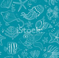 Fish,Ocean Floor,Coral,Draw...