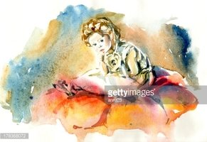 Watercolor Painting,Child,I...