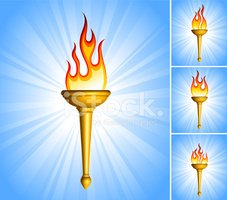 Flaming Torch,Flame,Sport T...