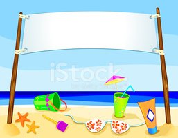 Beach,Sign,Sand,Summer,Bann...
