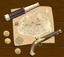 Pirate,Map,Gold,doubloon,Ca...