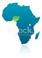 Nigeria,Map,Africa,Isolated...