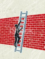 Brick Wall,Ladder of Succes...