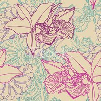 Orchid,Ilustration,Seamless...