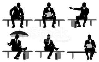 Sitting,Silhouette,People,B...