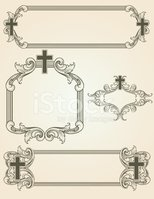 shaded arabesque cross frames