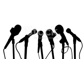 Microphone,Silhouette,Inter...