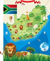 Map,South Africa,Cape Town,...
