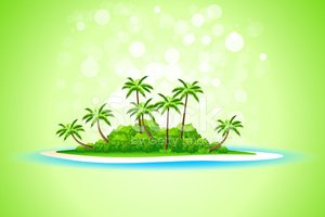 Island,Green Color,Environm...