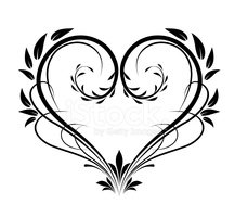 Heart Shape,Vector,Ornate,F...