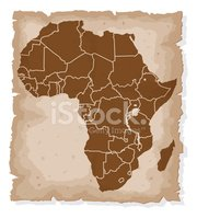 Africa,Map,Silhouette,Old-f...