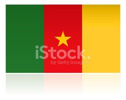 Africa,Cameroon,Flag,Isolat...