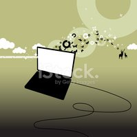 Laptop,Silhouette,Computer ...