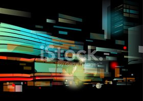 Urban Scene,City,Night,Stre...