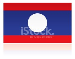 Laos,Flag,Isolated,National...