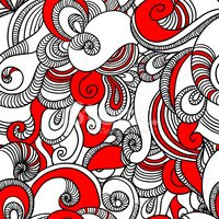 Doodle,Red,Pattern,Swirl,Na...