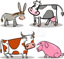 Cow,Spotted,Farm,Donkey,Pig...