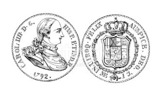 Coat Of Arms,Spanish Coin,E...