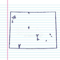 USA,Sketch,Lined Paper,Blue...