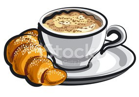 Croissant,Coffee - Drink,Br...