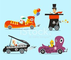 Car,Child,Toy,Parade,Clown,...