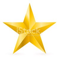 Star Shape,Gold,Gold Colore...
