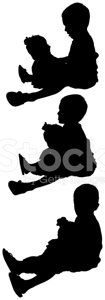 Silhouette,Baby,Care,Child,...