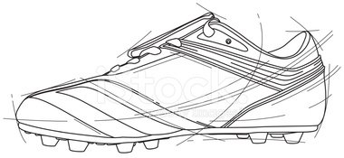 Soccer Shoe,Blueprint,Shoe,...