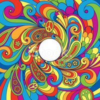 Psychedelic 70's background