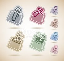 Paper Clip,Sign,Blue,Brown,...