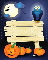 Autumn,Sign,Halloween,Bat -...